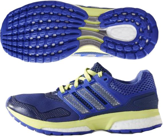 Adidas Response Boost 2 Jr Youth Shoe Purple Lime