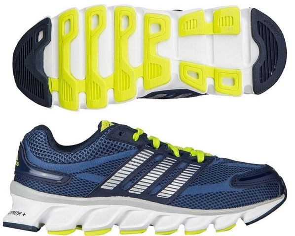 Adidas Kids Powerblaze Running Shoes Blue Silver Navy