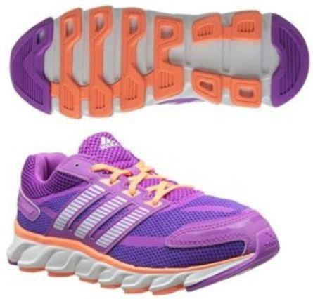 Adidas Kids Powerblaze Running Shoes Pink White Orange